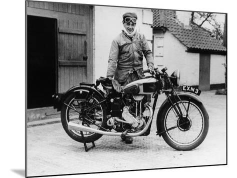 Donald Campbell Outside a Garage at Headley Grove, Surrey, 1938--Mounted Photographic Print