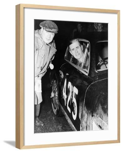 Tommy Wisdom, Winner of the Grand Turismo Class of the Mille Miglia, 1951--Framed Art Print