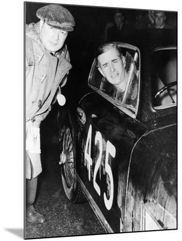 Tommy Wisdom, Winner of the Grand Turismo Class of the Mille Miglia, 1951--Mounted Photographic Print