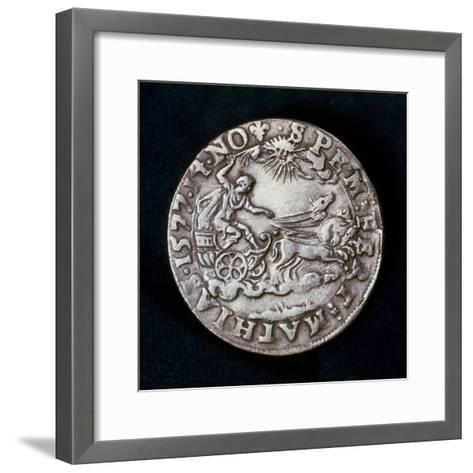 Reverse of a Medal Commemorating the Bright Comet of 1577--Framed Art Print