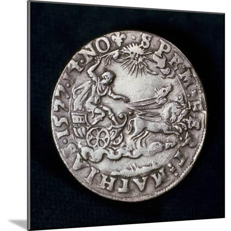 Reverse of a Medal Commemorating the Bright Comet of 1577--Mounted Photographic Print