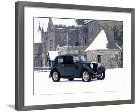 A 1934 Riley Falcon in the Snow--Framed Art Print