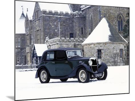 A 1934 Riley Falcon in the Snow--Mounted Photographic Print