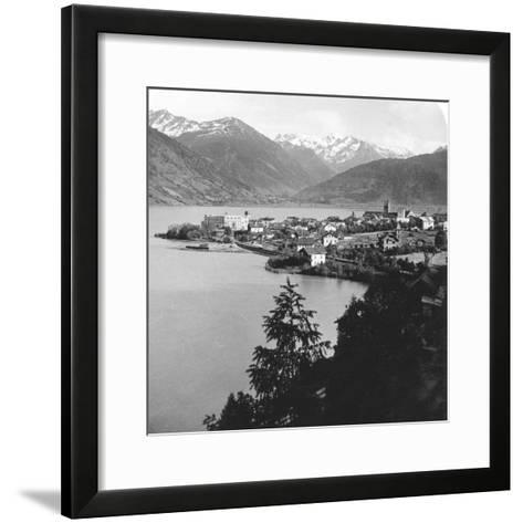 Zell Am See, Salzburg, Austria, C1900s-Wurthle & Sons-Framed Art Print