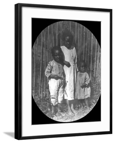 Children Near Petrópolis, Brazil, Late 19th or Early 20th Century--Framed Art Print