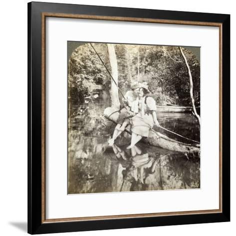 A Fishing Smack-Underwood & Underwood-Framed Art Print