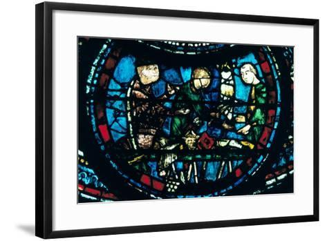 The Butchers, Stained Glass, Chartres Cathedral, France, 1194-1260--Framed Art Print
