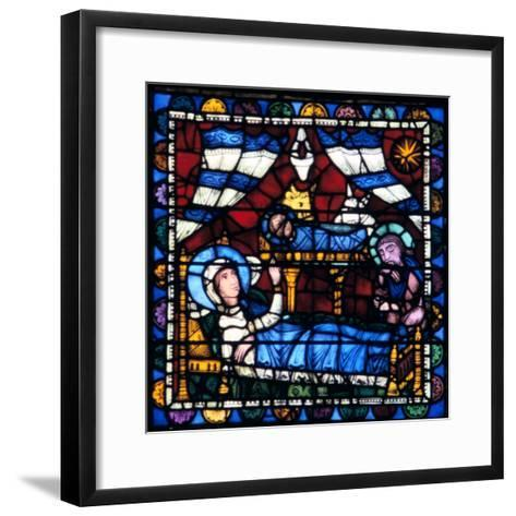 The Nativity, Stained Glass, Chartres Cathedral, France, 1194-1260--Framed Art Print