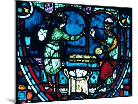The Bakers, Stained Glass, Chartres Cathedral, France, 1194-1260--Mounted Photographic Print