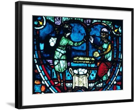 The Bakers, Stained Glass, Chartres Cathedral, France, 1194-1260--Framed Art Print