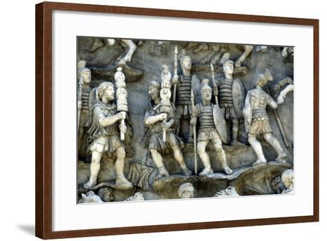 Roman Soldiers Taking Part in Decursio, the Ritual Circling of Funeral Pyre, C180-196--Framed Art Print