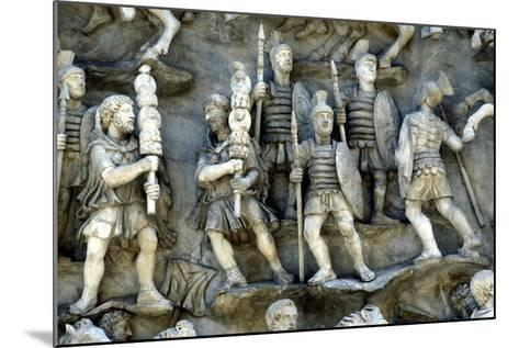 Roman Soldiers Taking Part in Decursio, the Ritual Circling of Funeral Pyre, C180-196--Mounted Photographic Print