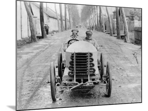 Lorraine Barrow at the Wheel of a De Dietrich, Paris to Madrid Race, 1903--Mounted Photographic Print