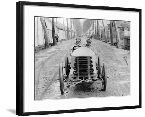 Lorraine Barrow at the Wheel of a De Dietrich, Paris to Madrid Race, 1903--Framed Art Print
