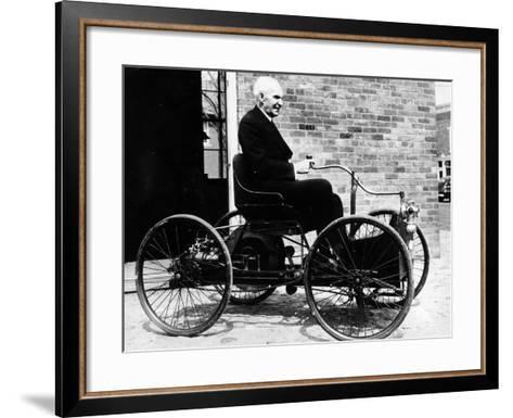 Henry Ford on a 1896 Ford, (C1940S)--Framed Art Print