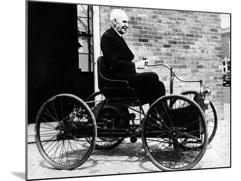 Henry Ford on a 1896 Ford, (C1940S)--Mounted Photographic Print