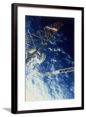 Astronaut on Eva from the Space Shuttle Atlantis, 1985--Framed Art Print
