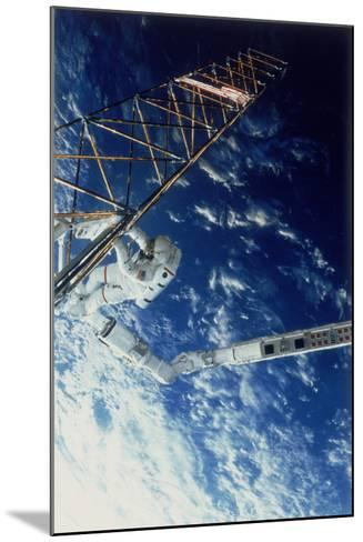 Astronaut on Eva from the Space Shuttle Atlantis, 1985--Mounted Photographic Print