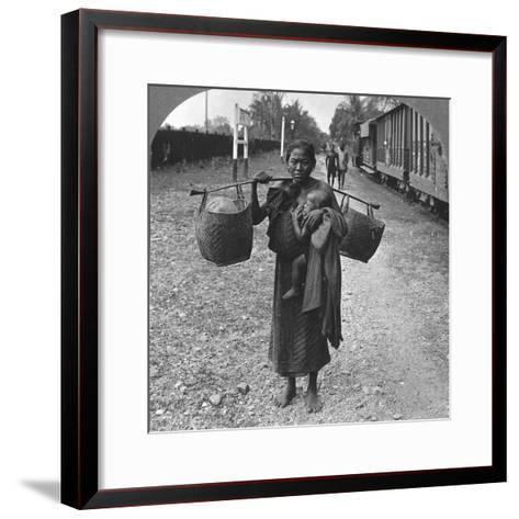 Shan Woman and Child, Upper Burma, 1908--Framed Art Print