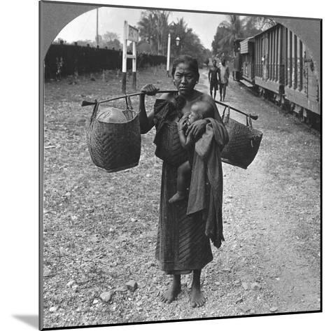 Shan Woman and Child, Upper Burma, 1908--Mounted Photographic Print