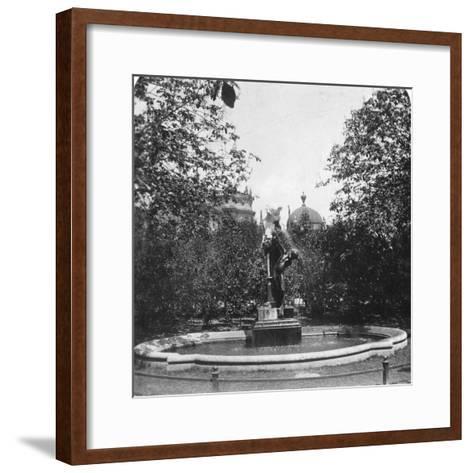 Fountain, Munich, Germany, C1900-Wurthle & Sons-Framed Art Print