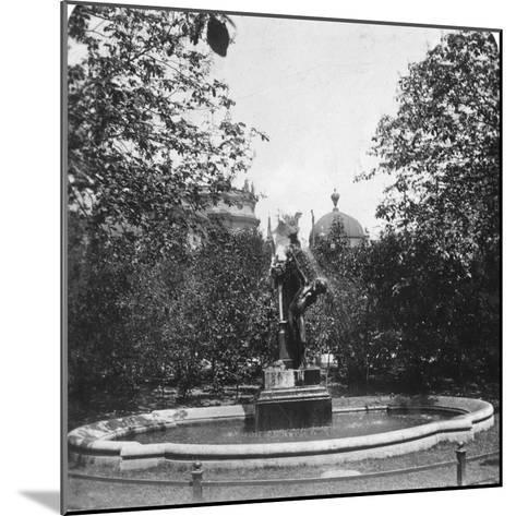 Fountain, Munich, Germany, C1900-Wurthle & Sons-Mounted Photographic Print