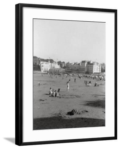 The Beach, Dinard, Brittany, 20th Century--Framed Art Print