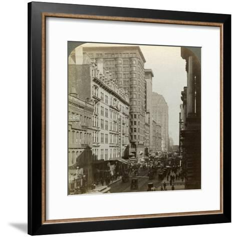 Skyscrapers, Randolph Street, Chicago, Illinois, USA, C Late 19th Century-Underwood & Underwood-Framed Art Print