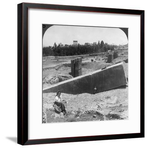 The Ruins of Baalbek (Balabak), Syria, 1900-Underwood & Underwood-Framed Art Print