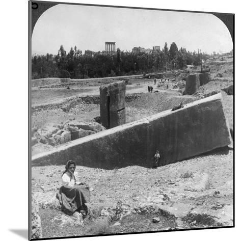 The Ruins of Baalbek (Balabak), Syria, 1900-Underwood & Underwood-Mounted Photographic Print