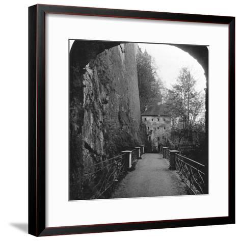 Sperrbogen, Hohensalzburg Fortress, Salzburg, Austria, C1900-Wurthle & Sons-Framed Art Print