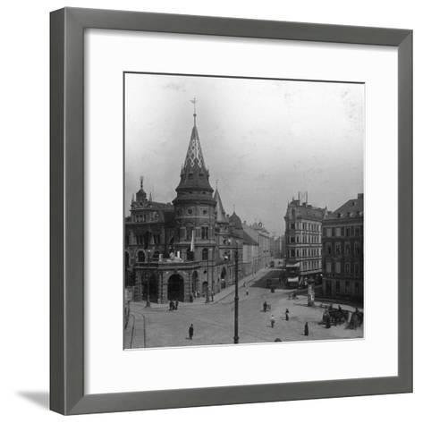 Löwenbräu Keller and Stiglmaierplatz, Munich, Germany, C1900s-Wurthle & Sons-Framed Art Print