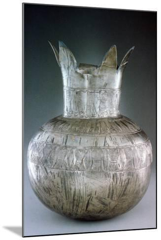 Silver Pomegranate Vase, from Tutankhamun's Tomb, 14th Century Bc--Mounted Photographic Print