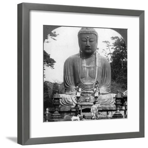 A Bronze Statue of Buddha, Kamakura, Japan, 1900s-BL Singley-Framed Art Print