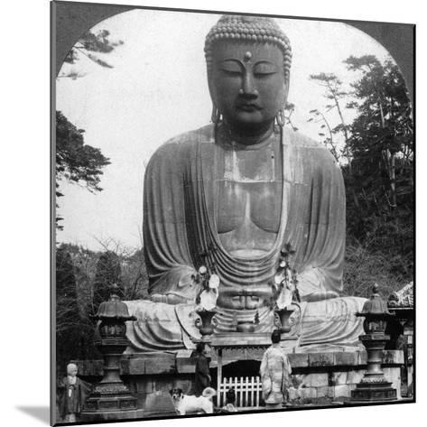A Bronze Statue of Buddha, Kamakura, Japan, 1900s-BL Singley-Mounted Photographic Print