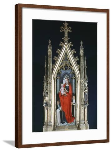 Virgin and Child, St Ursula Shrine, 1489-Hans Memling-Framed Art Print