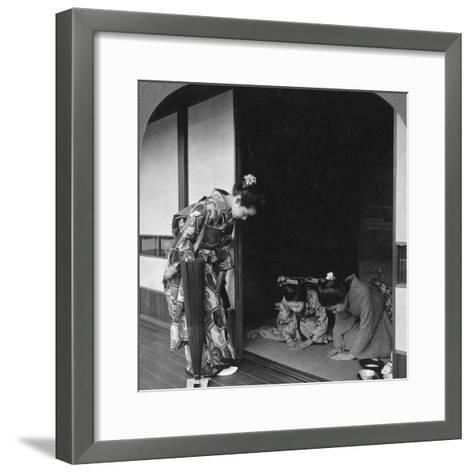 Three Japanese Women, Japan, 1905-BL Singley-Framed Art Print