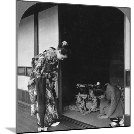 Three Japanese Women, Japan, 1905-BL Singley-Mounted Photographic Print