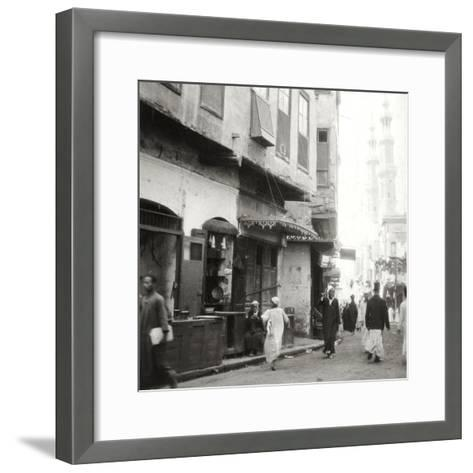 In the Darb-El-Ahmar, Cairo, Egypt, 20th Century-J Dearden Holmes-Framed Art Print