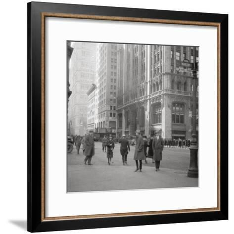 Lower Broadway, New York City, USA, 20th Century-J Dearden Holmes-Framed Art Print