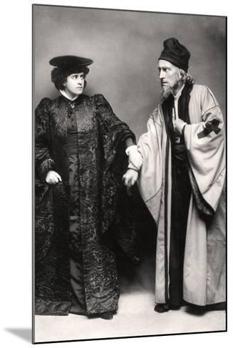 Gertude Elliott and Johnston Forbes-Robertson in the Merchant of Venice, Early 20th Century-Lizzie Caswall Smith-Mounted Photographic Print