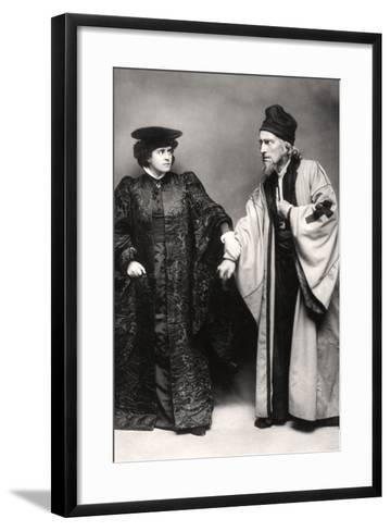 Gertude Elliott and Johnston Forbes-Robertson in the Merchant of Venice, Early 20th Century-Lizzie Caswall Smith-Framed Art Print