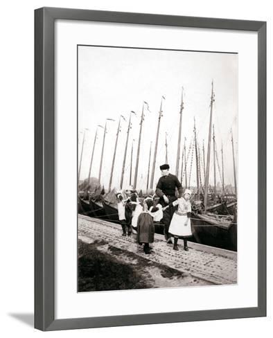 People of Marken Island, Netherlands, 1898-James Batkin-Framed Art Print