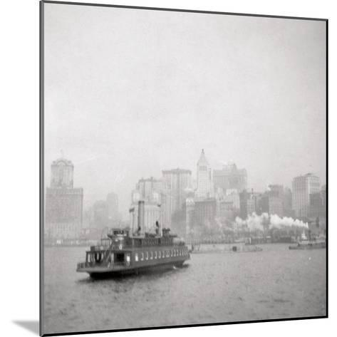 New York City from the River, USA, 20th Century-J Dearden Holmes-Mounted Photographic Print