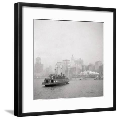 New York City from the River, USA, 20th Century-J Dearden Holmes-Framed Art Print