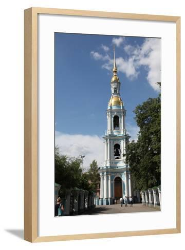 Bell Tower of St Nicholas Naval Cathedral, St Petersburg, Russia, 2011-Sheldon Marshall-Framed Art Print