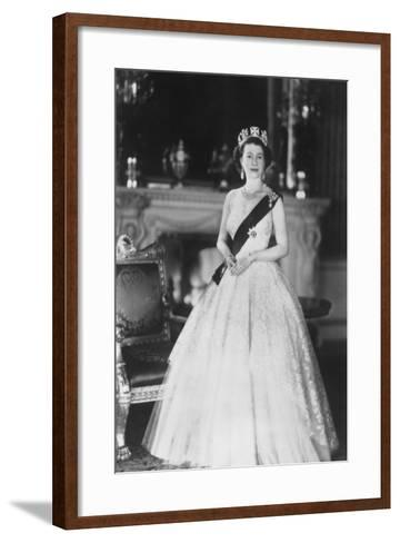 HM Queen Elizabeth II at Buckingham Palace, 12th March 1953-Sterling Henry Nahum Baron-Framed Art Print