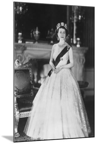 HM Queen Elizabeth II at Buckingham Palace, 12th March 1953-Sterling Henry Nahum Baron-Mounted Photographic Print