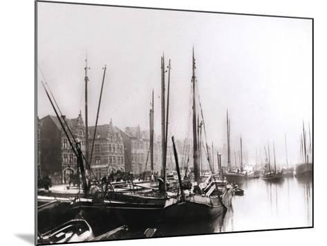 Canal Boats, Rotterdam, 1898-James Batkin-Mounted Photographic Print