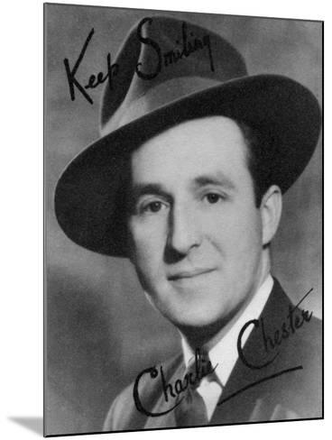 Charlie Chester, British Stand-Up Comedian and Tv and Radio Presenter, 20th Century-Montagu Watson-Mounted Photographic Print